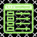 Internet Control Adjustment Icon
