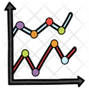 Continuous Data Control Chart Run Chart Icon