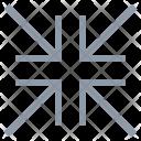 Converging Arrows Icon