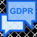 Conversation Message Gdpr Icon
