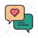 Conversation Love Chat Love Message Icon