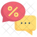 Conversation Discussion Discount Message Icon