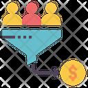 Sales Funnel Conversion Icon