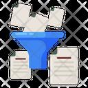 Conversion Funnel Data Filter Digital Conversion Icon