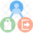 Conversion Rate Exit Rate Bounce Rate Icon