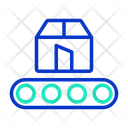Conveyor Conveyor Belt Courier Box Icon