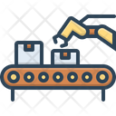 Conveyor Logistics Packaging Icon