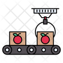 Conveyor Belt Packaging Icon