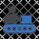 Conveyor Belt Packaging Icon