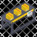 Conveyor Belt Pallet Logistics Product Distribution Icon