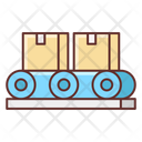 Conveyor Belt Parcel Package Icon
