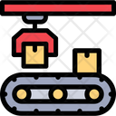 Conveyor Belt Package Sorting Product Distribution Icon