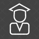 Convocation Student Graduate Icon