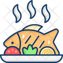 Cooked Fish Grilled Fish Seafood Icon