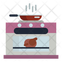 Pan Cooker Steam Icon
