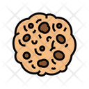 Cookie Oatmeal Color Icon