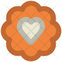Cookie Heart Sign Icon