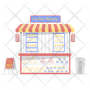Cookies Bakery Biscuit Stall Sweets Shop Icon