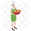Cookies Serving Cookies Stall Bakery Concept Icon