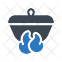 Burner Flame Dish Icon