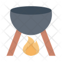 Bowl Cooking Fire Icon
