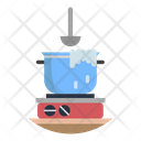 Food Fire Cooking Pot Icon