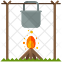 Cooking Meal Outdoors Icon