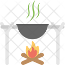 Outdoor Cooking Camp Icon