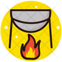 Campfire Camping Cooking Icon