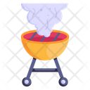 Outdoor Cooking Pollution Icon