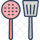 Cooking Spoons Skimmer Spoon Cutlery Icon