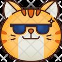 Cool Emoticon Cat Icon
