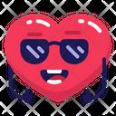 Heart Sunglasses Cool Icon