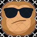 Cool Sun Glasses Monkey Icon