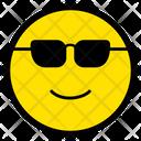 Cool Smiley Sunglasses Icon
