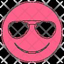 Pink Glyph Sunglasses Icon