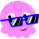 Cool Pink Cartoon Icon