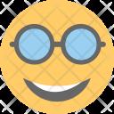Cool Sunglasses Happy Icon