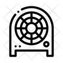 Fan Heater Heating Icon