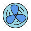Cooling Fan Hot Icon