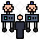 Cooperation Collaboration Robot Icon