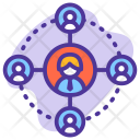 Coordinate Network Employee Icon