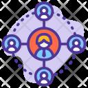 Coordinate employee Icon