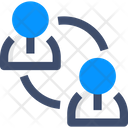Coordination Employee Connecction Connection Icon