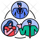Coordination Coordinating Collaboration Icon