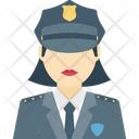Cop Female Cop Lady Officer Icon
