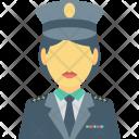Cop Female Lady Icon
