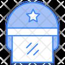 Cop Crime Helmet Icon