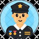 Police Cop Professional Person Icon