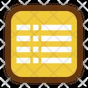 List Interface Design Icon